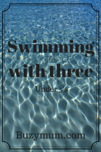 Buzymum - Swimming with three!