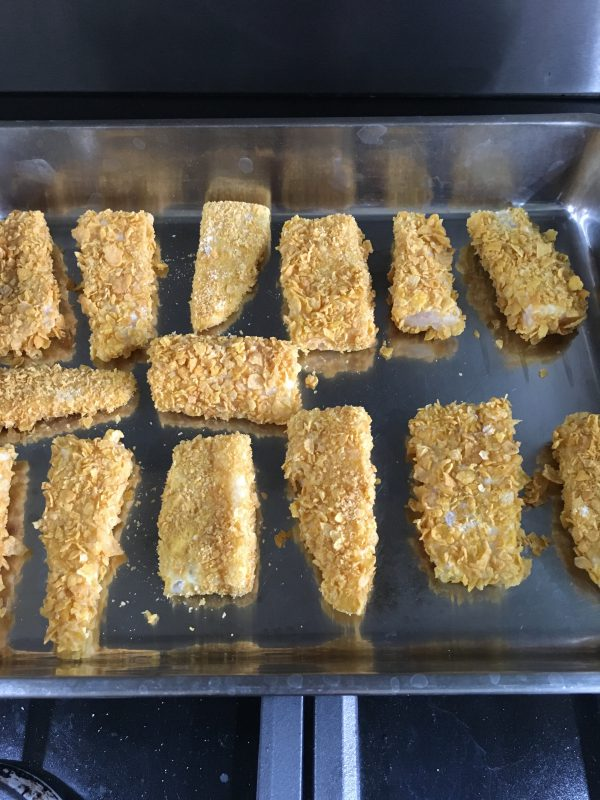 Buzymum - The fish fingers coated and ready got the oven