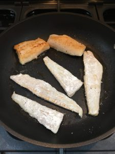 Frying fish fillets