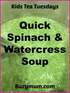 Buzymum - Quick Spinach and Watercress Soup