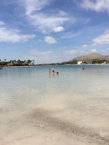 Buzymum - The kids playing in the shallow, calm water, Alcudia, Mallorca