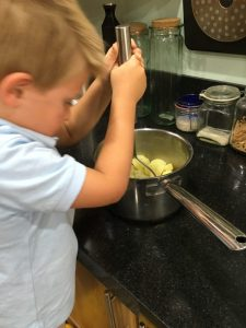 Buzymum - The Boy loves helping in the kitchen!