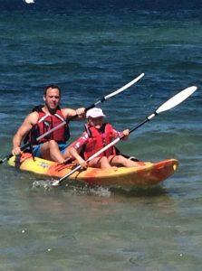 Buzymum - Kayaking in Baiona with Daddy