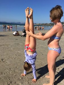 Buzymum - Handstands on the beach in Baiona