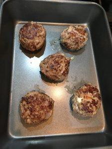 Buzymum - Meatballs have been fried, now ready for the oven