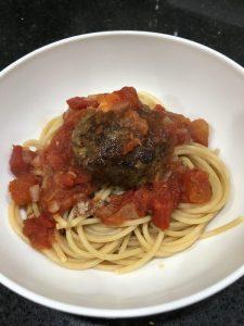 Buzymum - Spaghetti with Mozzarella Meatballs