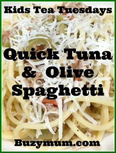Buzymum - Quick Tuna & Olive Spaghetti