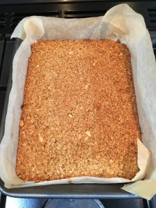 Buzymum - Flapjack cooked and ready to be cut into bars