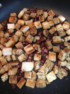 Buzymum - Crispy ham croutons