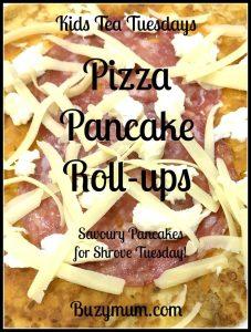 Buzymum - Pizza Pancake Roll-ups
