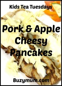 Buzymum - Pork and Apple Cheesy Pancakes
