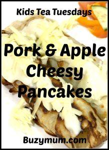 Buzymum - Pork and Apple Cheesy Pancakes