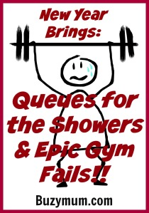 Buzymum - New year brings Queues for the Showers & Epic Gym Fails!!