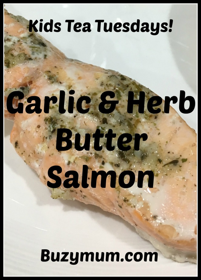 Buzymum - Garlic & Herb Butter Salmon