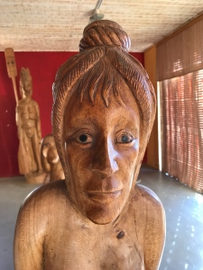 Buzymum - Ornately carved figure head of a wooden boat