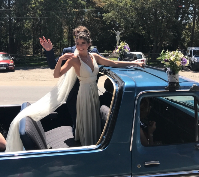 Buzymum - Waving off the happy couple to the reception