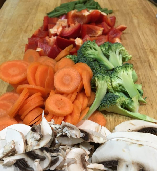 Buzymum - Vegetables chopped and ready for the stir fry