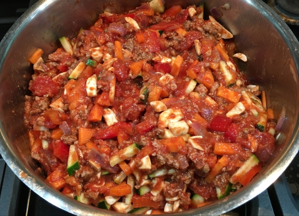 Buzymum - All veg added to the chilli