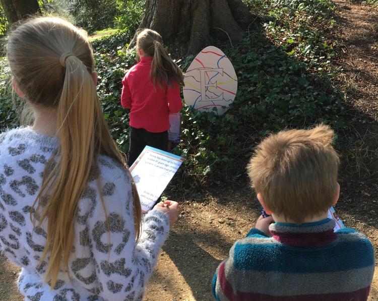 Buzymum - Finding eggs at Hughenden Manor