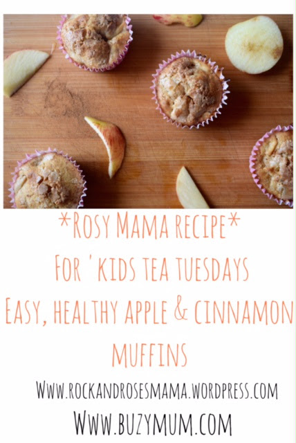 Buzymum - Healthy apple and cinnamon muffin recipe. Easy and great for the whole family!