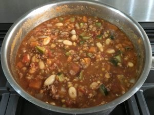 Buzymum - Beany mince cooking