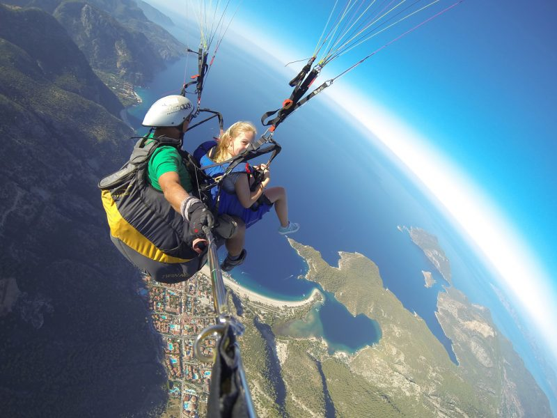 Buzymum - K enjoying her first paragliding experience