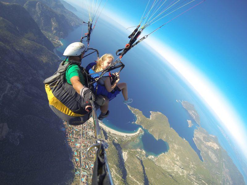 Buzymum - K enjoying her first paragliding experience