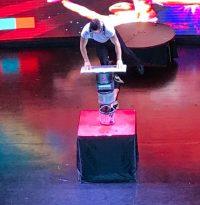 Buzymum - Balancing on some tin cans!!