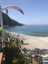 Buzymum - Our view from breakfast, watching the paraglider land